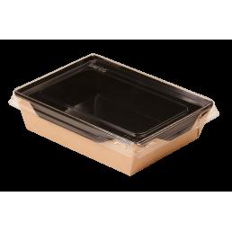 DO ECO Салатник с прозрачной крышкой ECO OPSALAD 800мл 207x127x55мм Черный