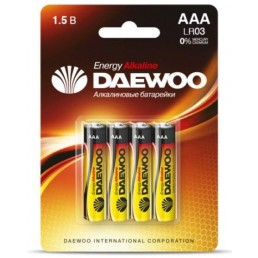 DAEWOO Батарейки алкалиновые AAA LR03 4шт