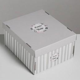 Складная коробка с крышкой 31х25.5х16.1см Очень нужные вещи арт 3425494