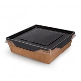 DO ECO Салатник с прозрачной крышкой ECO OPSALAD 900мл 150x150x50мм Черный