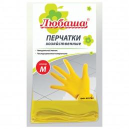 ЛЮБАША Перчатки латексные хозяйственные 1пара M