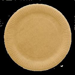 Тарелка бумажная д-230мм 50шт Крафт