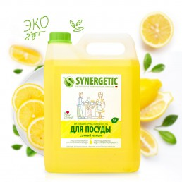 СИНЕРГЕТИК Средство для мытья посуды 5л Лимон