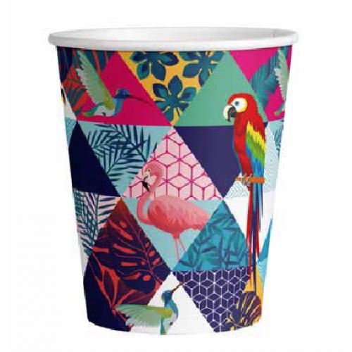Стакан бумажный одноразовый 250мл д-80мм 50шт Птицы