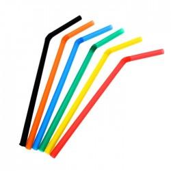 Трубочки для напитков 8х240мм, гофра, 250шт Цветные