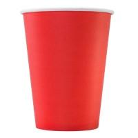 Стакан бумажный одноразовый 350мл д-90мм 50шт Красный