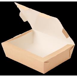 DO ECO Контейнер бумажный Ланч-бокс ECO LUNCH 1000мл 190x150x50мм Крафт
