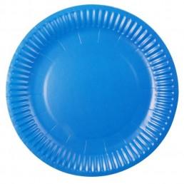 Тарелка бумажная д-180мм 50шт Голубая
