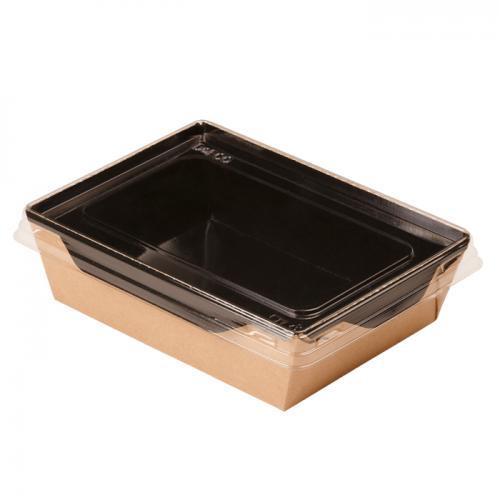 DO ECO Салатник с прозрачной крышкой ECO OPSALAD 500мл 165x120x45мм Черный