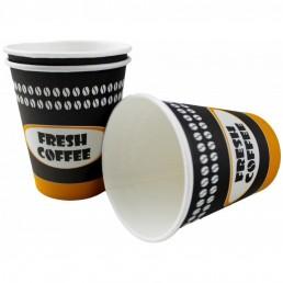 Стакан бумажный одноразовый 185мл д-73мм 50шт Fresh Coffee