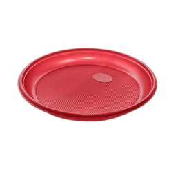 Тарелка одноразовая д-170 100шт Красные