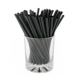 Трубочки для напитков 10х240мм, прямые, 250шт Чёрные