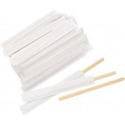 АВИОРА Размешиватель деревянный 140мм 250шт В индивидуальной бумажной упаковке