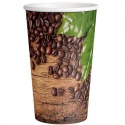 Стакан бумажный одноразовый 400мл д-90мм 50шт Кофейные зерна