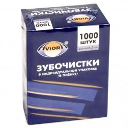 АВИОРА Зубочистки в индивидуальной ПП упаковке 1000шт