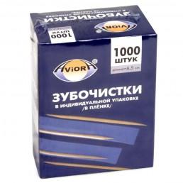 АВИОРА Зубочистки в инд. упак. пленке 1000шт