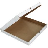 Короб для пиццы 33х33см Бурая с печатью