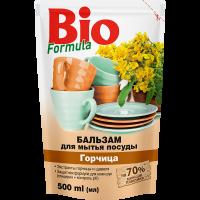 BIO FORMULA Бальзам для мытья посуды 500мл Горчица