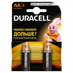 DURACELL Батарейки алкалиновые АА 2шт