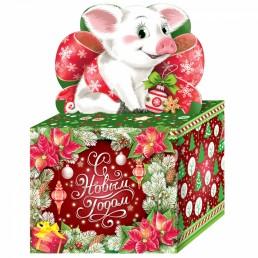 Коробка подарочная ПОДАРОЧЕК 800гр (№6) (2019)
