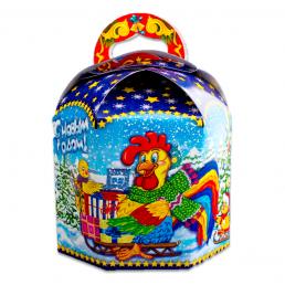 Коробка подарочная КАТОК ПЕТУХ 1000гр N11