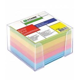 СТАММ Блок для заметок 80х80х50мм цветной