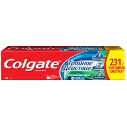 КОЛГЕЙТ Зубная паста 150мл Тройное действие. Натуральная Мята