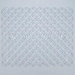 VARMAX Коврик для раковины 25х31см Кружки Прозрачный