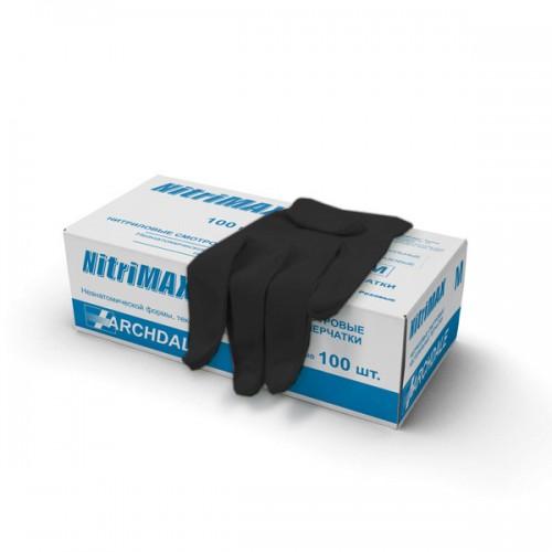 НИТРИМАКС перчатки нитриловые 50пар чёрные S