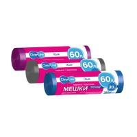 CLEAR LINE Мешки для мусора 60л 30шт Прочные Синие