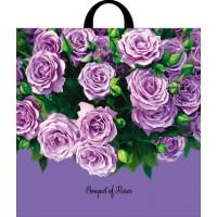 Пакет с петлевой ручкой 44х44см Bouquet of Roses
