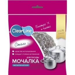 CLEAR LINE Мочалка металлическая Сталь для посуды
