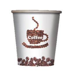 Стакан бумажный одноразовый 180мл д-73мм 50шт Кофе зерна