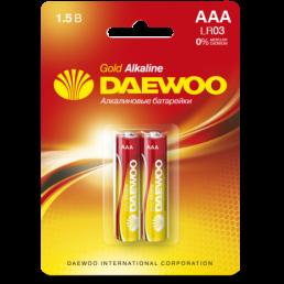 DAEWOO Батарейки алкалиновые AAA LR03 2шт
