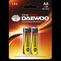 DAEWOO Алкалиновые батарейки LR6 AA 2шт