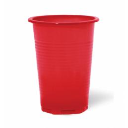 Стакан одноразовый 200мл 100шт Красный