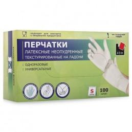 АДМ перчатки латексные 100шт S