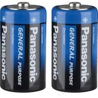 ПАНАСОНИК Батарейки солевые D-R20BE 1.5V 2шт