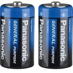 PANASONIC Батарейки солевые D-R20BE 1.5V 2шт