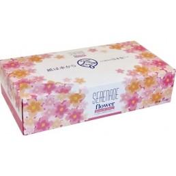 SERENADE бумажные салфетки в коробке 2сл 150шт цветочный аромат