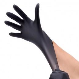 HOUSEHOLD GLOVES Перчатки нитриловые неопудренные 100шт S Черные
