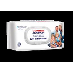 СМАРТ ЭКОНОМ Салфетки влажные 120шт Для всей семьи