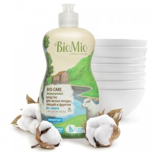 BIO MIO Средство для мытья посуды, овощей и фруктов 450мл Концентрат, без запаха