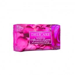 DELICARE Мыло туалетное 90г Аромат малины и лепестков роз