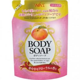 WINS BODY Крем-мыло для тела 400мл Персик (м/у)