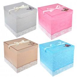 Коробка подарочная складная 25х25х25см арт. 207-019
