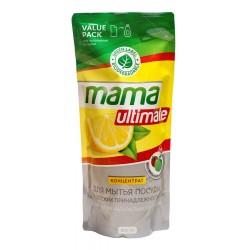 МАМА УЛЬТИМАТ концентрат для мытья посуды 600мл натуральный лимон (в мяг. уп)