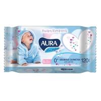 AURA ULTRA COMFORT Влажные салфетки для детей 120шт