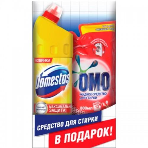 НАБОР ДОМЕСТОС Средство универсальное 1л + ОМО Жидкое средство для стирки 800мл