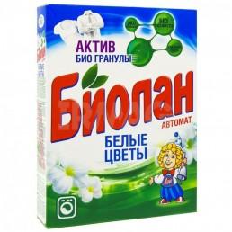 БИОЛАН Стиральный порошок автомат 350г Белые цветы